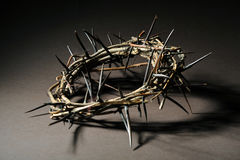 Crown of thorns. Over a brown background Royalty Free Stock Images
