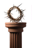 Crown of thorns. Over a brown background Stock Images