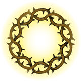 Crown of Thorns. Illustration of a crown of thorns, symbolizing Christ's suffering Stock Photo