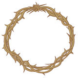 Crown of thorns. Colores vector illustration of the Crown of thorns Stock Image