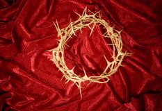 Crown of thorns. On a red background Stock Image