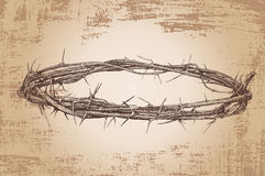 Crown of thorns. Vintage Vector illustration Royalty Free Stock Photo
