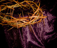 Crown of thorns. He has overcome the crown of thorns stock photo