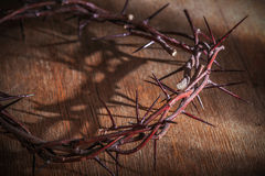 This is a crown of thorns. On the Bible Stock Image