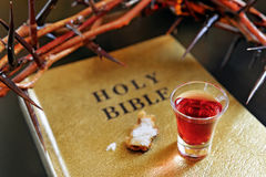 Crown of thorns on a bible Royalty Free Stock Images