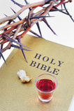 Crown of thorns on a bible Royalty Free Stock Image
