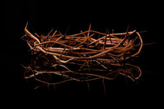 Crown of Thorns on Black Stock Images