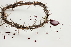 Crown of Thorns and Blood Royalty Free Stock Photo