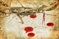 Crown of Thorns and Blood Drops Stock Photography
