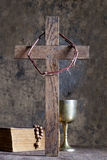 Crown of thorns and cross Stock Images