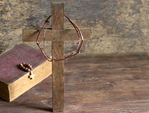 Crown of thorns and cross Royalty Free Stock Image