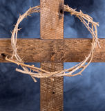 Crown of Thorns on a Cross Royalty Free Stock Images