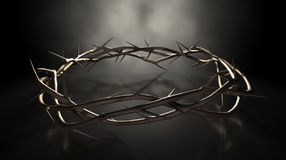 Crown Of Thorns On Dark Royalty Free Stock Photography