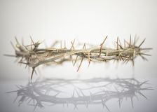 a crown of thorns easter background stock photography
