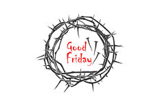 Crown of thorns. A crown of thorns for Good Friday, Easter, Palm Sunday and many more Royalty Free Stock Photos