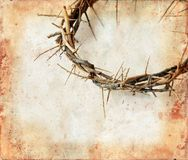 Crown of Thorns on Grunge Background royalty free stock photos
