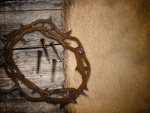Crown of thorns, grunge Easter background Stock Photo