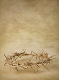 Crown of thorns on grunge wallpaper Royalty Free Stock Image