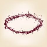 Crown of thorns hand drawn vector llustration Stock Photos