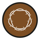 Crown of thorns icon vector illustration