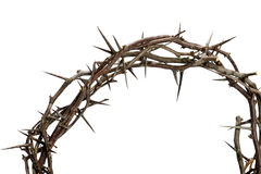 Crown of Thorns. Isolated over white background stock image