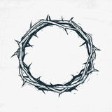 Crown of thorns Jesus Christ. Sketch, handmade Stock Photos