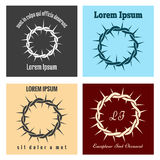 Crown of thorns logo set Stock Photography