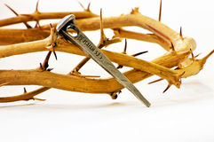 Crown of Thorns with Nail Stock Photography
