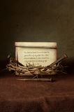 Crown of Thorns and Nails With Bible Verse Royalty Free Stock Photo