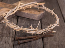 Crown of Thorns and Nails Royalty Free Stock Photos