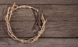 Crown of Thorns and Nails Stock Photography