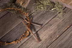 Crown of Thorns and Nails Royalty Free Stock Photography