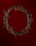 Crown of Thorns Over Red Clothe Stock Photography