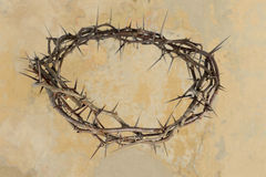 Crown of Thorns over Vintage Background Royalty Free Stock Photography
