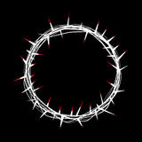 Crown of Thorns with Red Blood of Christ Illustration Royalty Free Stock Photos