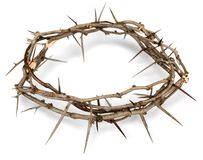 Crown of Thorns. Religion christianity isolated crown of thorns crown thorn easter stock photo