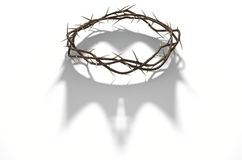 Crown Of Thorns With Royal Shadow Stock Photos