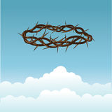 Crown of thorns in the sky. Crown of thorns  in the sky Stock Photos