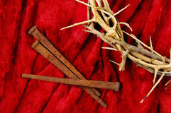 Crown of Thorns and Spikes Stock Photos