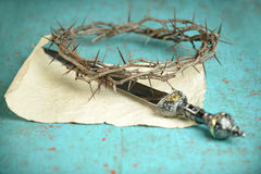 Crown of THorns and Sword Royalty Free Stock Photos