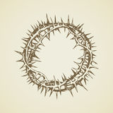 Crown of Thorns. Vector drawing Royalty Free Stock Photos
