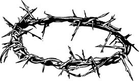 Crown Of Thorns Vector Illustration Stock Photos