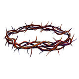 Crown of thorns vector illustration  hand drawn Royalty Free Stock Photography