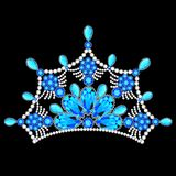Crown tiara women with glittering precious stones Royalty Free Stock Photography
