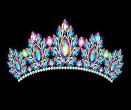 Crown tiara women with glittering precious stones Royalty Free Stock Image