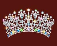 crown tiara women with glittering precious stones Stock Photo