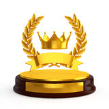 Crown trophy Royalty Free Stock Photos