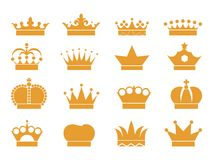 16 Crown vector. Available EPS09 and jpeg 300dpi Royalty Free Stock Photography