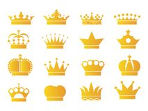 16 Crown vector Gold. Available EPS09 and jpeg 300dpi Royalty Free Stock Photos