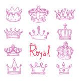 Crown, vector  hand drawn vector Royalty Free Stock Image